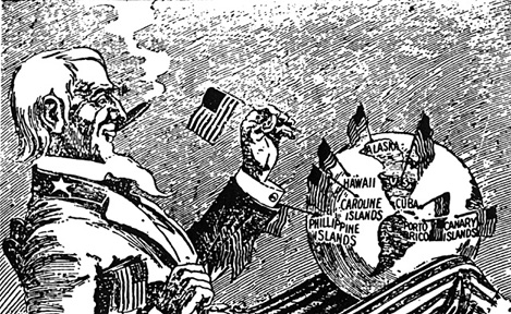 """Uncle Sam Plants a Flag"" 