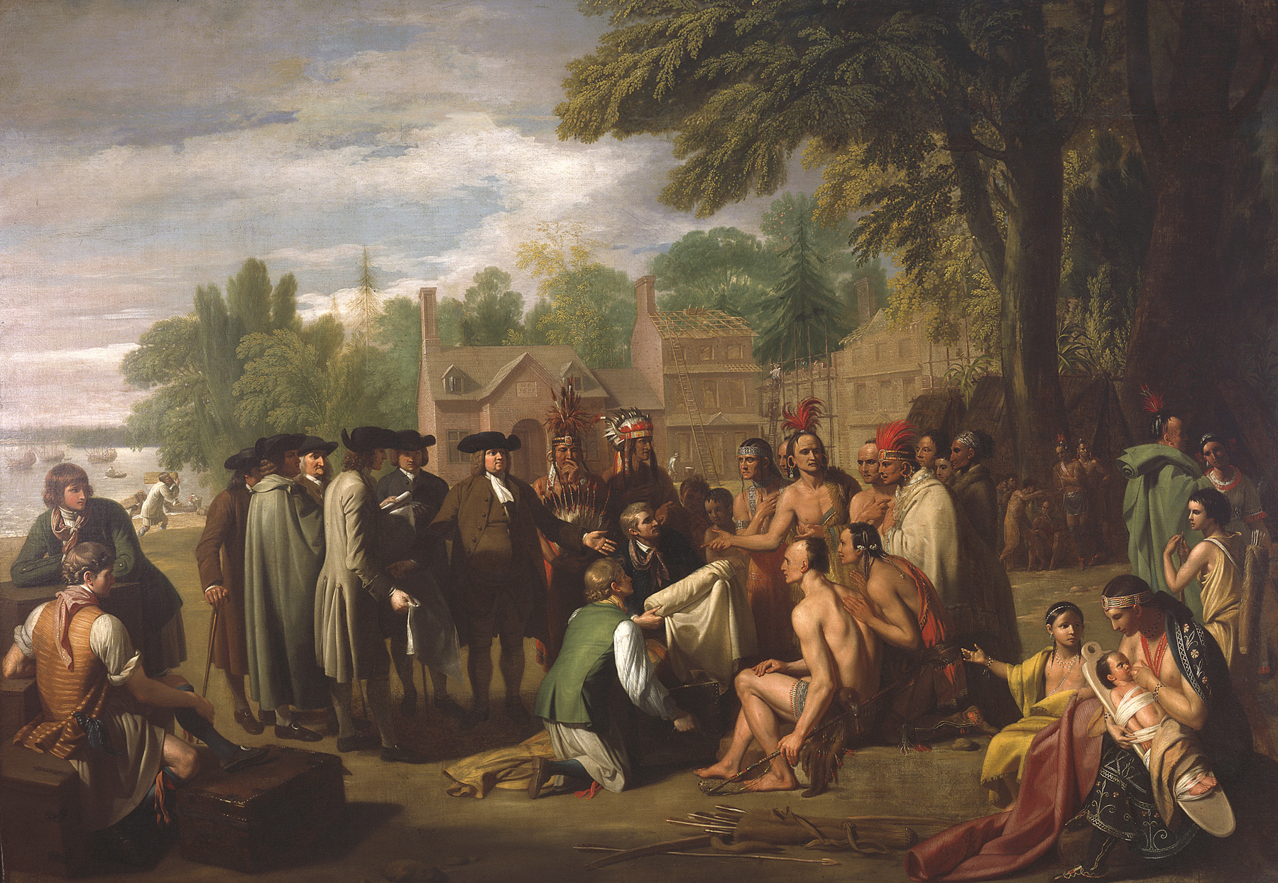 Painting of William Penn's Treaty with the Lenape