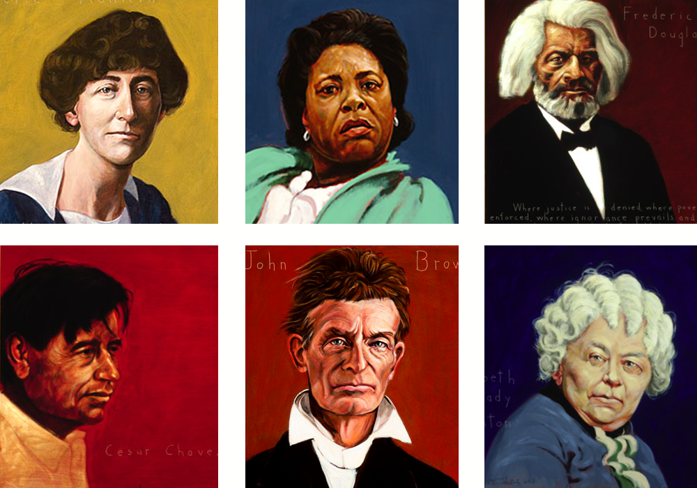 Portraits of Unsung Heroes by Robert Shetterly