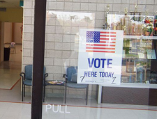 New Jersey Polling Station, 2008 • WikiCommons