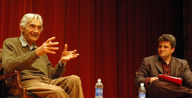 Howard Zinn and David Zirin, 2009 | HowardZinn.org
