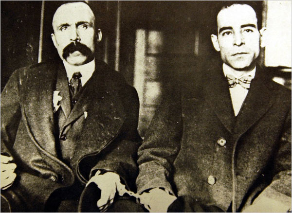 Bartolomeo Vanzetti and Nicola Sacco • Photographer unknown • WikiCommons