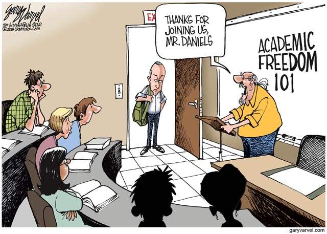 Academic Freedom 101 | Illustration by Gary Varvel | The Indianpolis Star