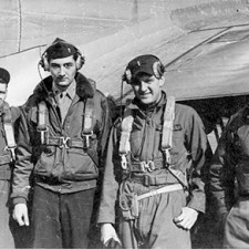B&W photo of Air Force crew.