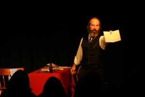 Bob Weick performs Marx in Soho.