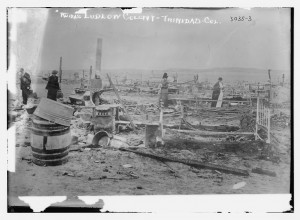 Ludlow Massacre ruins. Photo from Library of Congress.