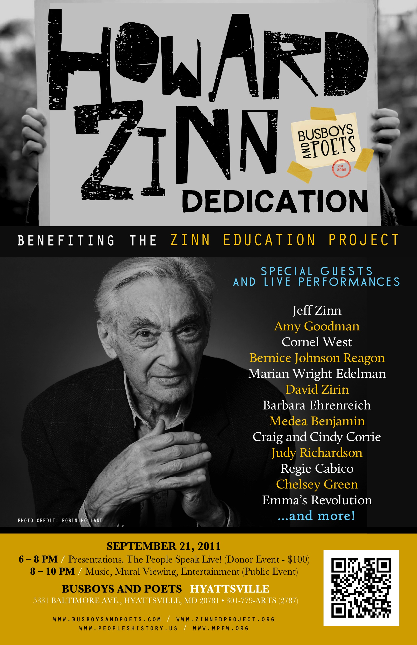 Howard Zinn Room Poster | Photo by Robin Holland