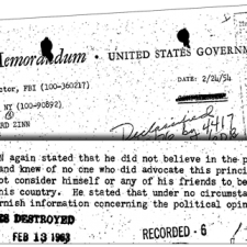 FBI Report on Howard Zinn, 1953 | HowardZinn.org