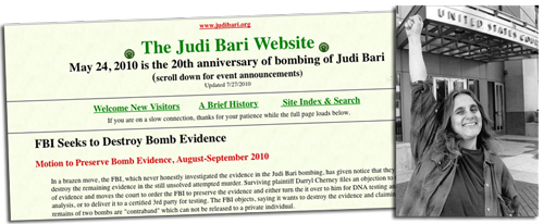 Judi Bari Website