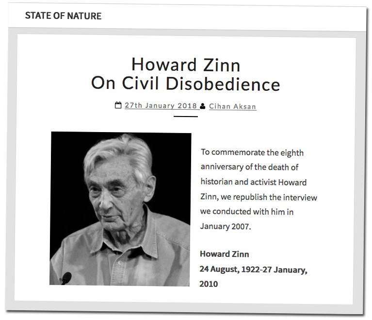 State of Nature Journal | HowardZinn.org