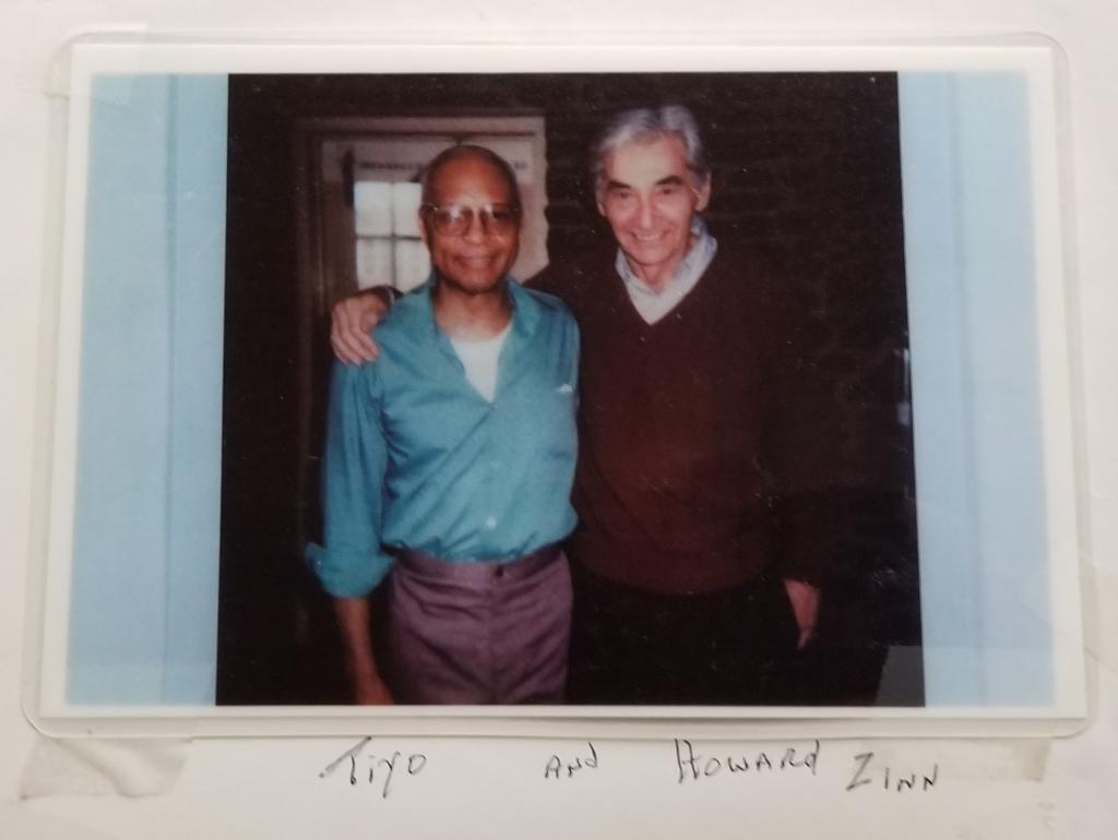 Tiyo Attallah Salah-El and Howard Zinn (undated) | HowardZinn.org