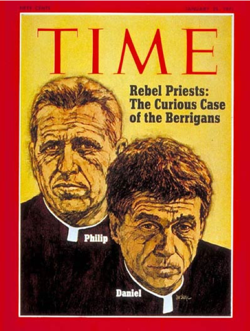 color image of priest Daniela and Phil Berrigan