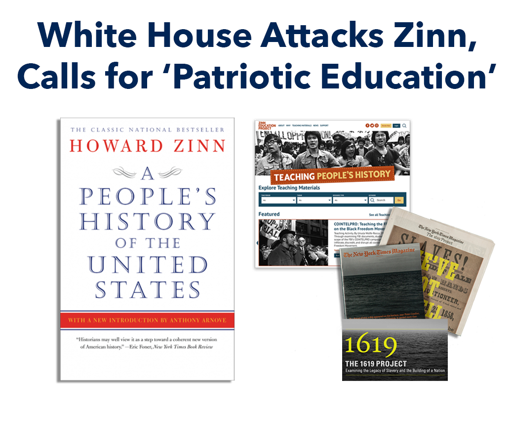 Trump Attacks Zinn banner